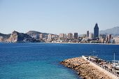 picture of costa blanca  - The city Benidorm on the Costa Blanca  - JPG