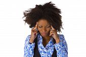 pic of pms  - African american woman feels sick  - JPG