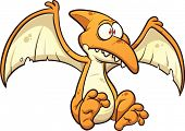 foto of pterodactyl  - Cartoon pterodactyl - JPG