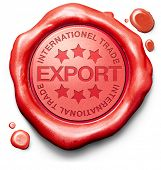 stock photo of international trade  - export international trade logistics freight transportation world economy exportation of products - JPG