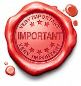 stock photo of priorities  - important very high priority info lost importance crucial information red icon stamp button or label - JPG