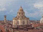 foto of turin  - Dome of the church of San Lorenzo in Turin - JPG