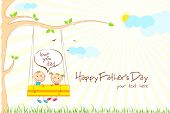 picture of swings  - illustration of kids enjoying swing ride in park in Father - JPG