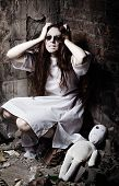 stock photo of rag-doll  - Horror style shot - JPG