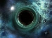 picture of quantum physics  - An image of a nice space singularity black hole - JPG
