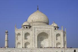pic of mumtaj  - The Taj Mahal was built at Agra Uttar Pradesh India by Emperor Shah Jahan as a mausoleum for his wife Mumtaj in 1631 AD - JPG
