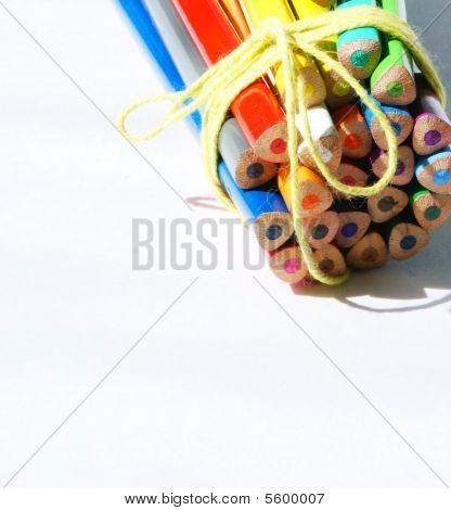 Crayon Card Background