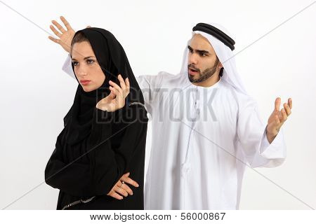 Arab Couple Fight