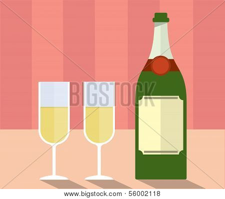 Champagne with glasses