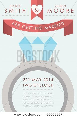 Wedding invitation large ring style