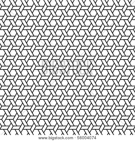 A seamless vector, black and white pattern.
