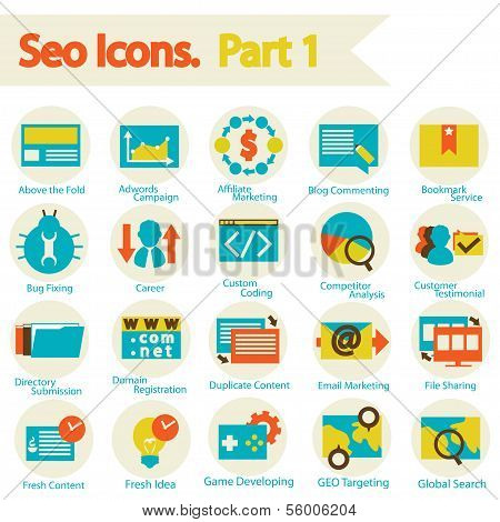 Seo Icons Set Part 1