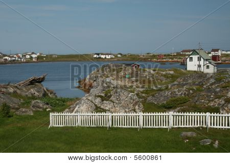 White Picket Fence In Tilting, Newfoundland