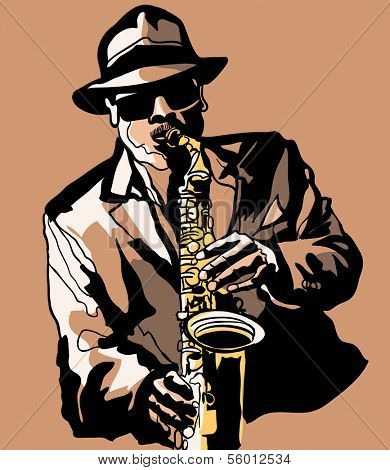 Vector illustration - Saxophone player