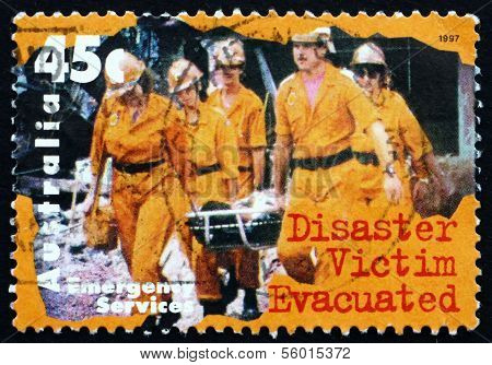 Postage Stamp Australia 1997 Disaster Victim Evacuated