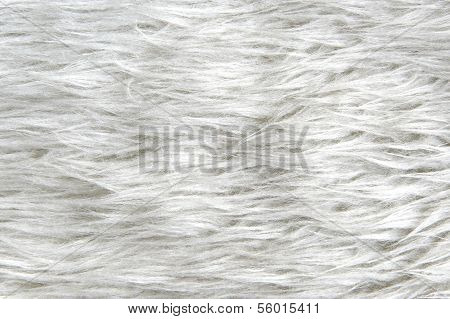 White synthetic fur