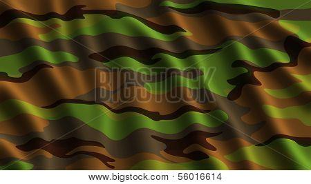 Wavy Camouflage Flag