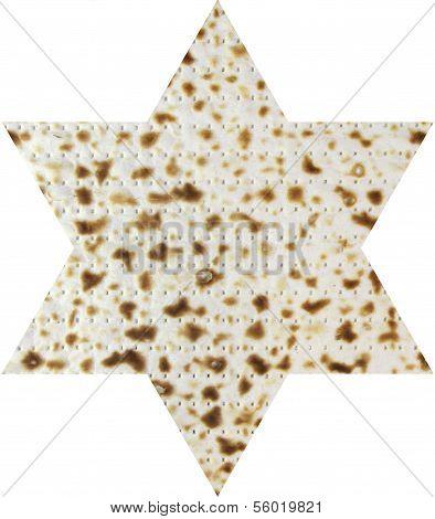 Matzah in the form magendavid