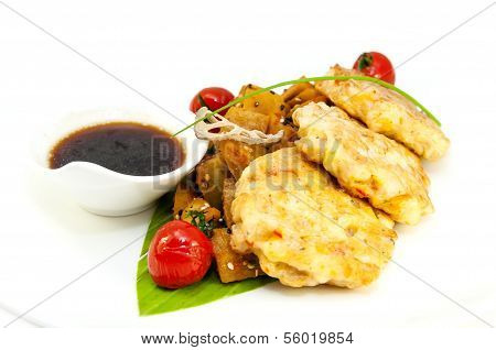 meat cutlets with shrimp