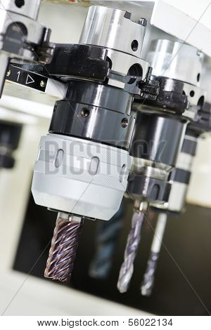 industrial cutting rapid steel tools for metal processing at milling machine center