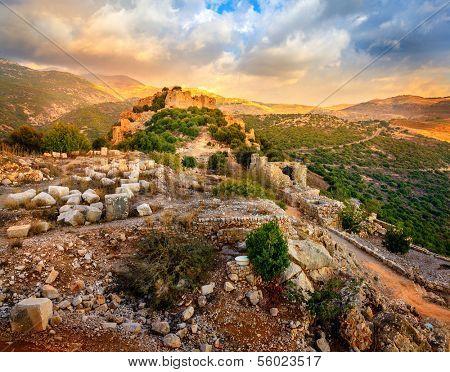 Castle Nimrod in Israel