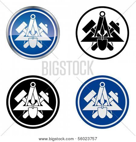 Mason - Traditional Craftsmen's Guild Vector Symbol, four variations