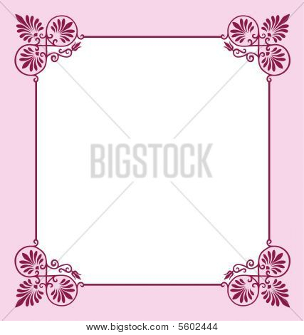 Pink Scrollwork Border