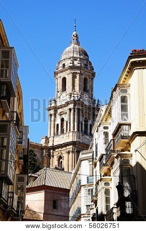 Cathedral bell tower, Malaga, Spain.