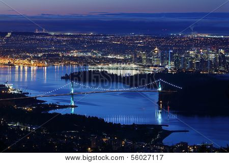 Burrard Inlet Vancouver Twilight
