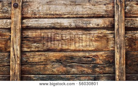 Old Dirty Wood Broad Panel Used As Grunge Textured Background Backdrop And Nature Bark Wooden Wall