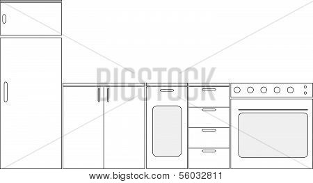 schematic kitchen furniture