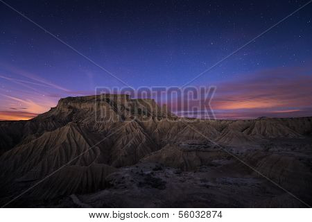 Blue Hour Over The Desert