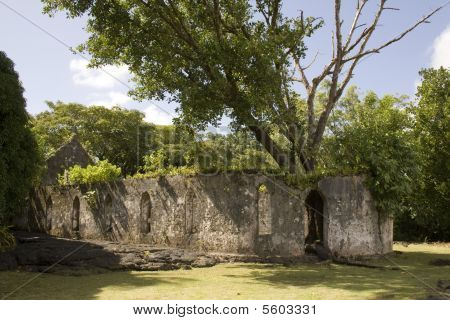 Old Church Destroyed by Lava in Samoa