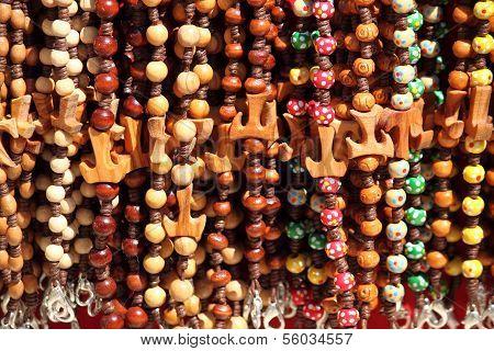 Colorful beads with Tau Cross