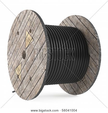 Cable drums. Industrial hose reel