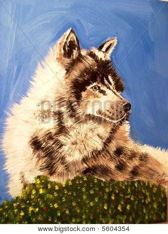 Timberwolf Acrylic Water Base Painting