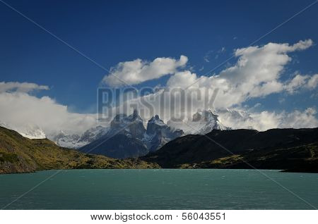 CHILE - FEBRUARY 19: A lake in Torres Del Paine National Park in the Patagonia region of Chile.