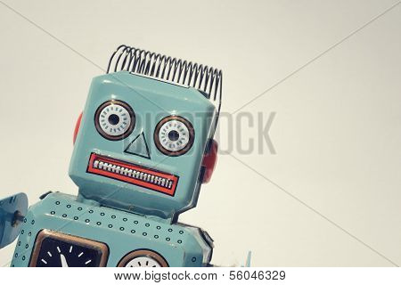 Vintage tin toy robot
