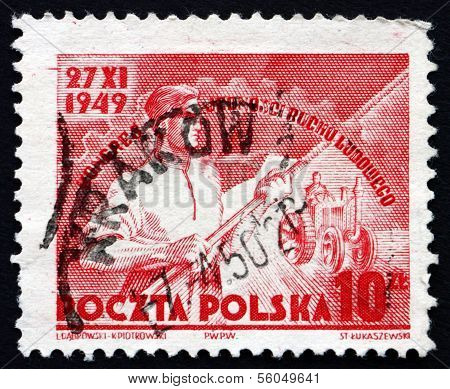Postage Stamp Poland 1949 Symbolical Of United Poland