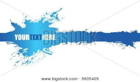 Banner de fondo Splash azul