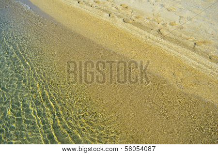 Golden Sand And Water