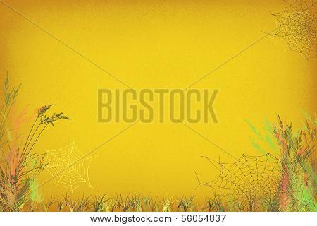 Golden Spider Web Brushwork Background