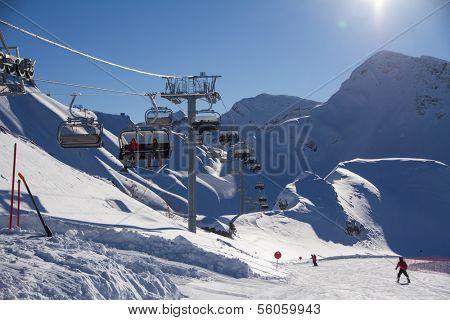 Ski resort. Krasnaya Polyana, Sochi, Russia
