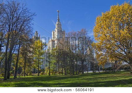 The Main Building Of Moscow State University.