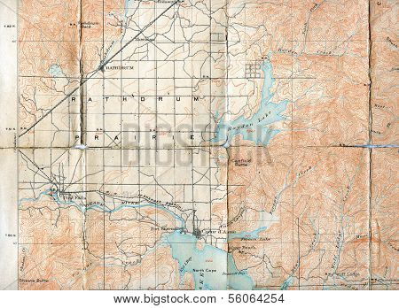 1903 Folded Map of Rathdrum Prairie, Idaho
