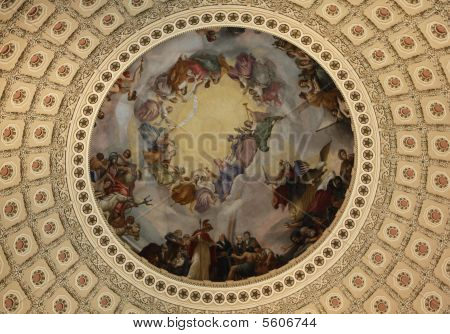 The ceiling in Capitol in Washington DC