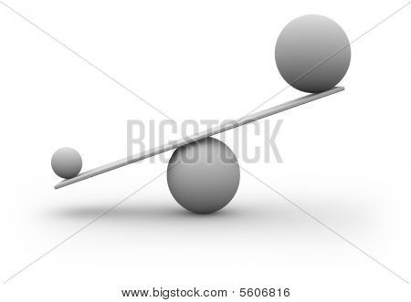 Scales 3d concept isolated on white