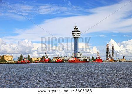 Port In Gdansk
