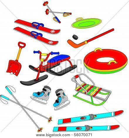 Objekte für die Winter-Freizeit