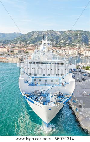 Meditarranee passenger Ferry in Toulon Harbour